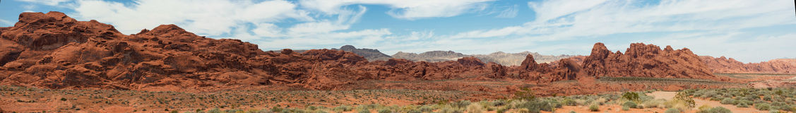 Valley of Fire Panorama Royalty Free Stock Photography
