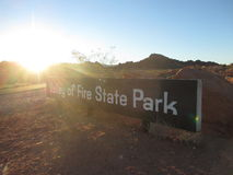 Valley of Fire Park Sign Stock Images