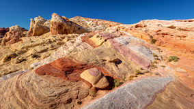 Valley of Fire Rainbow Vista Stock Photography