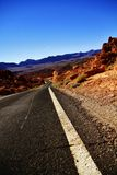 Empty Road Along in Valley of fire,nevada state,america Stock Photography