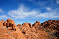 Valley of fire red rock formations in the desert Royalty Free Stock Image