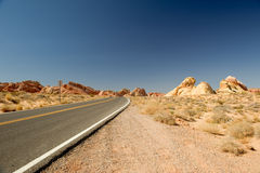 Valley of Fire Road Royalty Free Stock Images