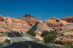 Valley of Fire Road Royalty Free Stock Photography