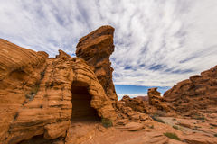 Valley of Fire rock formation Royalty Free Stock Photography