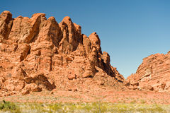 Valley of Fire rock formations Royalty Free Stock Photo