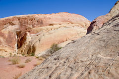 Valley of Fire rock formations Royalty Free Stock Photos