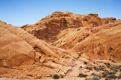 Valley of Fire rock formations Royalty Free Stock Image