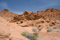 Valley of Fire Scenic. A rugged landscape shot taken in the Valley of Fire State Park, Nevada Royalty Free Stock Photos
