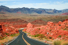 Valley of Fire Scenic Drive Royalty Free Stock Photography