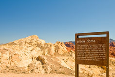 Valley of Fire sign Nevada Stock Photos