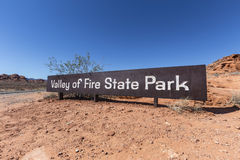 Valley of Fire Sign Stock Images