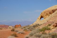 Valley Of Fire State Park. Elephant-shaped mountain in Valley Of Fire State Park, Nevada, USA Stock Photos