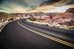 Valley of Fire State Park Highway Royalty Free Stock Images