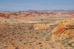 Valley Of Fire State Park. Valley of Fire landscape with a road Royalty Free Stock Image