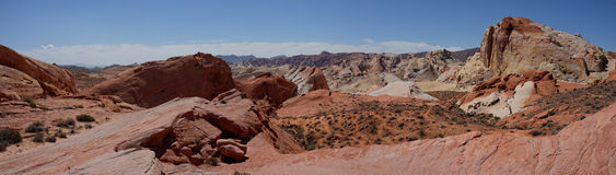 Valley of Fire State Park Panorama (Nevada, USA) Royalty Free Stock Photography