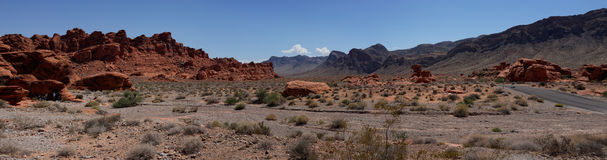 Valley of Fire State Park Panorama (Nevada, USA) Royalty Free Stock Photo