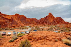Valley of Fire State Park Panorama Royalty Free Stock Photos