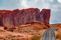 Valley of Fire State Park Panorama Stock Photo