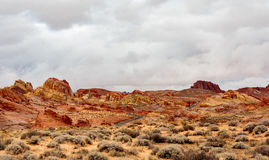 Valley of Fire State Park Panorama Stock Photography