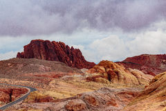 Valley of Fire State Park Panorama Stock Image