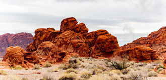 Valley of Fire State Park Panorama Royalty Free Stock Photography