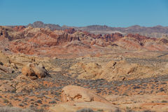 Valley of Fire State Park Rugged Landscape Royalty Free Stock Images