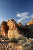 Valley of Fire State Park at sundown Royalty Free Stock Image