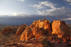 Valley of Fire State Park at sundown Stock Photo