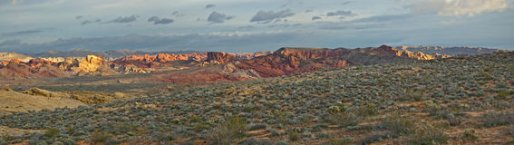 Valley of Fire Sunrise Panorama Stock Image
