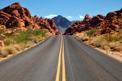Valley of fire in United States Stock Image