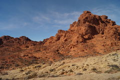 Mountain in Valley of Fire. View of mountain in Valley of Fire, Nevada Royalty Free Stock Photos