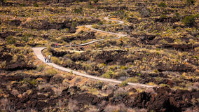 Valley of Fires Recreation Area, Lava Field in New Mexico Stock Photography