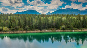 Valley of the Five Lakes in Jasper National Park Stock Photos