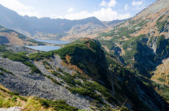 Valley of five polish lakes Royalty Free Stock Image