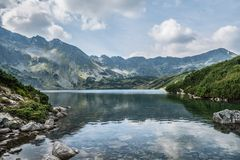Valley of five Polish ponds landscape royalty free stock photos