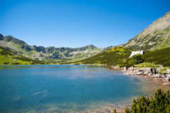 Valley of five Ponds. Mountains mountain lake tatry and mountain. Stock Photos