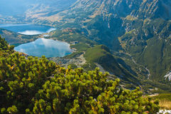 Valley of five ponds in Tatry Mountains in Poland Royalty Free Stock Photo