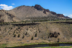 Valley floor of the Crooked River Stock Photos