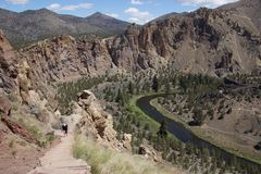 Valley floor of the Crooked River Royalty Free Stock Photography