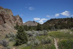 Valley floor of the Crooked River Stock Photo