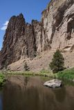Valley floor of the Crooked River Stock Photography