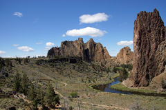 Valley floor of the Crooked River Stock Image
