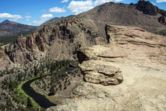 Valley floor of the Crooked River Stock Images