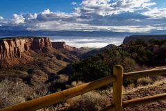 Valley Fog From Rimrock Drive royalty free stock photo