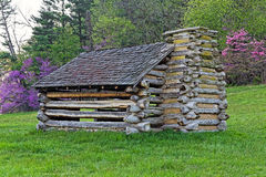 Valley Forge Cabin. Reproduction of a cabin used by Revolutionary War soldiers during the winter of 1777-78 under the command of George Washington. Located in Royalty Free Stock Photography