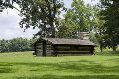 Valley Forge. Log cabin at valley forge pennsylvania where general george washington and the continental army encamped during the winter of 1777 to 1778 during Stock Image