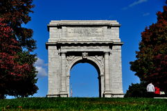 Valley Forge, PA: National Memorial Arch Stock Photo