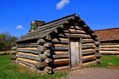 Valley Forge, PA: Winter Encampment Log Cabins Stock Image