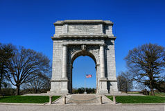 Valley Forge Park National Memorial Arch Monument. National Memorial Arch historic monument dedicated to the officers and private soldiers of the Continental Royalty Free Stock Photo
