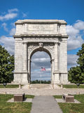 Valley Forgre Arch. Picture of the National Memorial Arch at Valley Forge Park in Pennsylvania Royalty Free Stock Photo